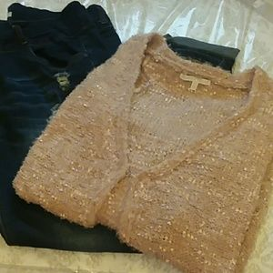 Stunning STYLE ME PETITE Champagne Sweater
